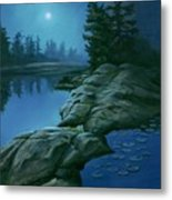 The Moonlight Hour Metal Print