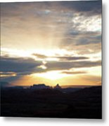 The Morning Streak Metal Print