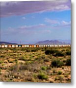 The Morning Train By Route 66 Metal Print