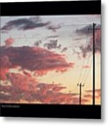 The Most #amazing #sunset Over #austin Metal Print