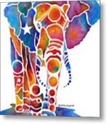 The Most Whimsical Elephant Metal Print