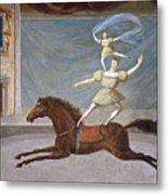 The Mounted Acrobats Metal Print