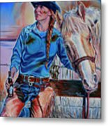 The Mud The Blood And The Bud Metal Print