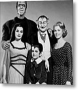 The Munster Family Portrait Metal Print