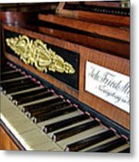 The Musical Keyboard Of Johann Friedrich Marty Antique Grand Piano Metal Print