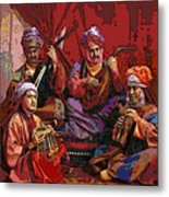 The Musicians Of Hajji Baba Metal Print by Eikoni Images