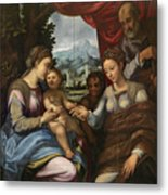 The Mystic Marriage Of Saint Catherine Metal Print