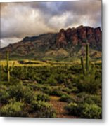 The Mystical Beauty Of The Superstitions  Metal Print