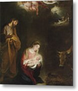 The Nativity With The Annunciation To The Shepherds Beyond Metal Print