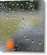 The Natural Lens That Is A Raindrop Metal Print