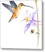 The Nectar Hunt Metal Print