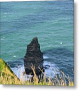 The Needle Off The Cliff's Of Moher In Ireland Metal Print
