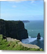 The Needle Rock Formation On The Cliff's Of Moher Metal Print