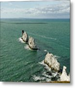 The Needles - Isle Of Wight Metal Print