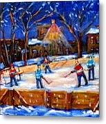 The Neighborhood Hockey Rink Metal Print