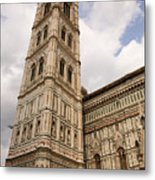 The Neo Gothic Facade Of The Duomo In Florence Metal Print