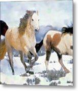 The Nevada Herd Metal Print