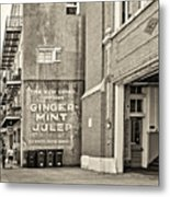 The New Drink Sepia Metal Print