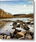 The New River At Whitt Riverbend Park - Giles County Virginia Metal Print