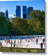 The New York Central Park Ice Rink  Metal Print