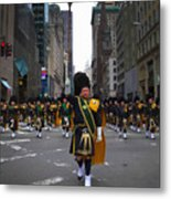 The New York City Police Emerald Society Pipe And Drum Corps Metal Print