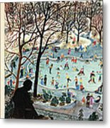 The New Yorker Cover - February 4th, 1961 Metal Print