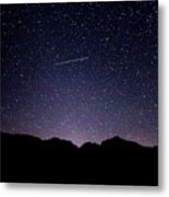 The Night Landscape View And The Stars At Tuttle Creek, Lone Pin Metal Print