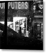 The Night Side Of Town - New York Metal Print