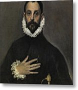 The Nobleman With His Hand On His Chest Metal Print