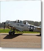 The North American T6 Texan Military Aircraft . 7d15782 Metal Print by Wingsdomain Art and Photography