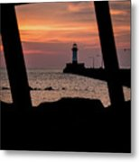 The North Pier Lighthouse Metal Print