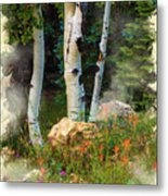 The North Rim Forest Metal Print
