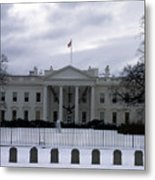 The North View Of The White House Metal Print