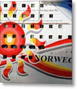 The Norwegian Sun Bow Metal Print by Susanne Van Hulst
