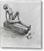 The Nude  Sculpture Metal Print