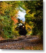 The Number 40 Rounding The Bend Metal Print