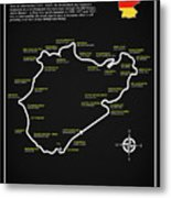 The Nurburgring Nordschleife Metal Print