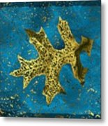 The Oak Leaf And The Wind Storm Metal Print