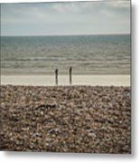 The Ocean Can Make You Feel Small, Bognor Regis, Uk. Metal Print