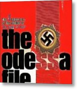 The Odessa File Frederick Forsyth Book Cover 1972 Color Added 2016 Metal Print