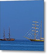 The Old And The New-st Lucia Metal Print