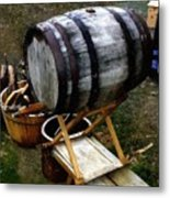 The Old Beer Barrel Metal Print