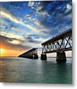 The Old Bridge Sunset - V2 Metal Print