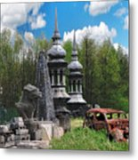 The Old Car At The Dragon Gate Metal Print