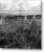 The Old Cemetery At Galisteo Metal Print
