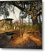 The Old Chicken Lot Metal Print
