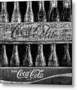 The Old Coke Stack In Black And White Metal Print