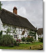 The Old Cottage Micheldever Metal Print