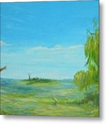 The Old Cottage On Willow Bay Metal Print