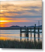 The Old Dock - Charleston Low Country Metal Print